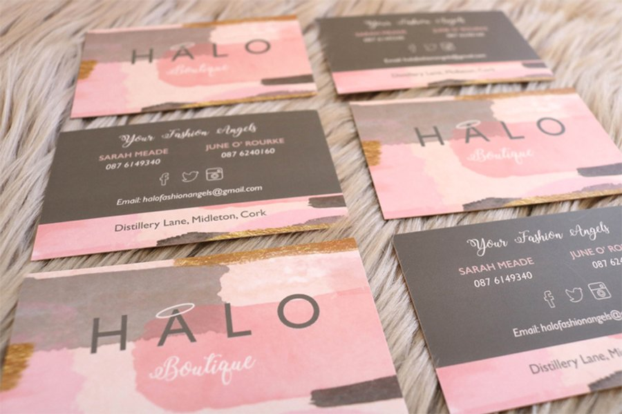 Portfolio - Halo Boutique - Business Card Design