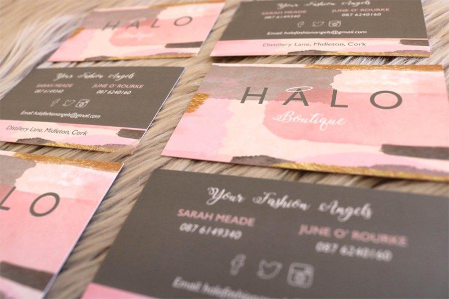 Portfolio - Halo Boutique - Business Cards